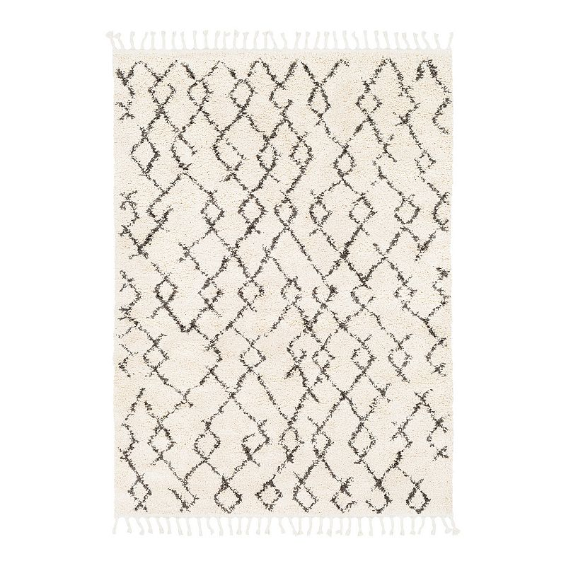 Decor 140 Markos Moroccan Trellis Area Rug, Beig/Green, 6.5X9 Ft