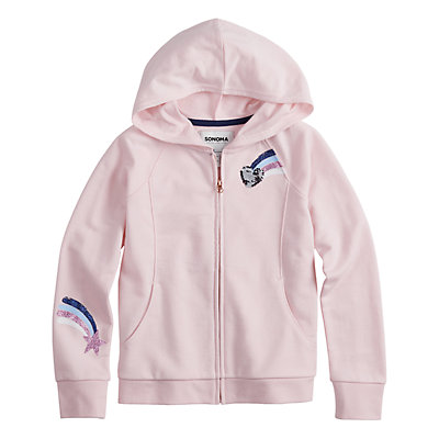 Girls 4-12 SONOMA Goods for Life? Flip-Sequin French Terry Hoodie