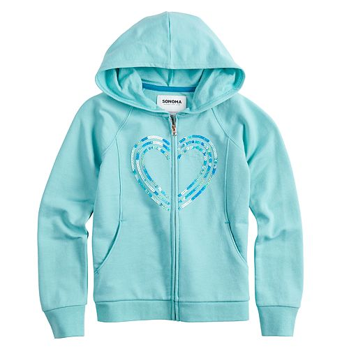 Girls 4-12 SONOMA Goods for Life™ Flip-Sequin French Terry Hoodie