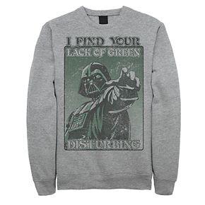 """Men's Star Wars Darth Vader """"Lack Of Green"""" Sweatshirt"""