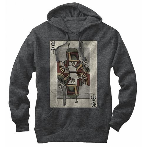 Men's Star Wars Playing Card Boba Fetta Pullover Hoodie