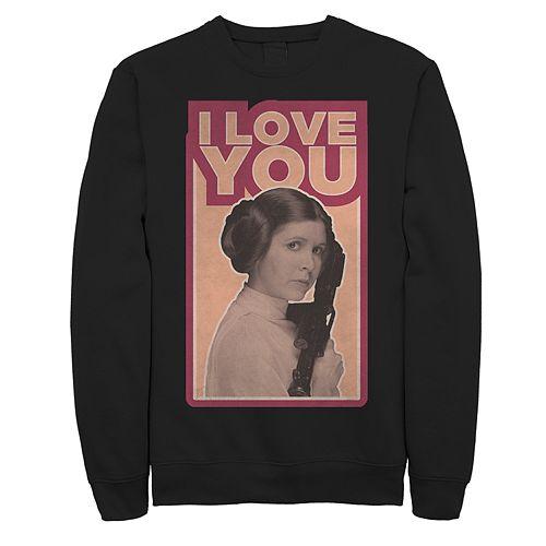 "Men's Star Wars Leia ""I Love You"" Sweatshirt"