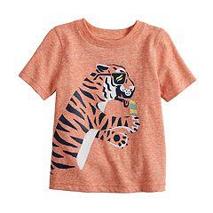 7a542eda Toddler Boy Jumping Beans® Heathered Graphic Tee. Skull Blue Tiger Orange
