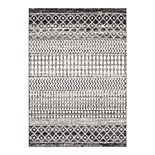 Decor 140 Distressed Geometric Print Rug