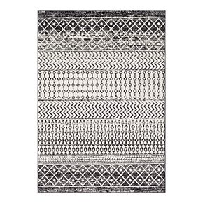 Distressed Geometric Print Rug