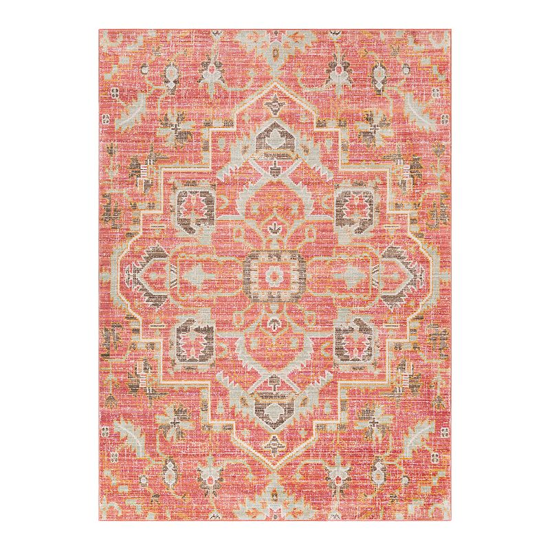 Decor 140 Sofia Abstract Area Rug, Orange, 3X8 Ft