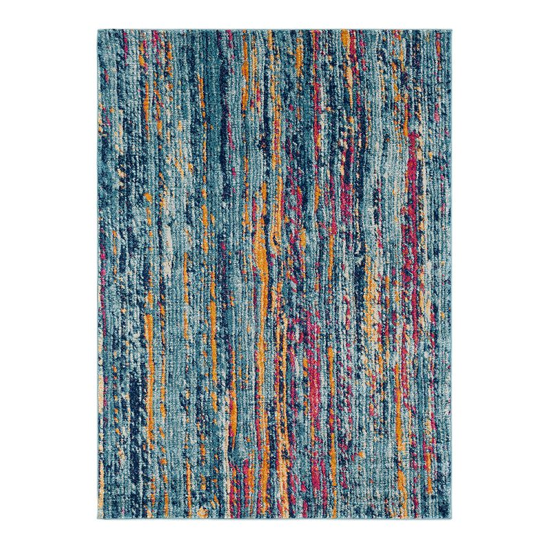 Decor 140 Raja Distressed Oriental Area Rug, Blue, 8X10 Ft