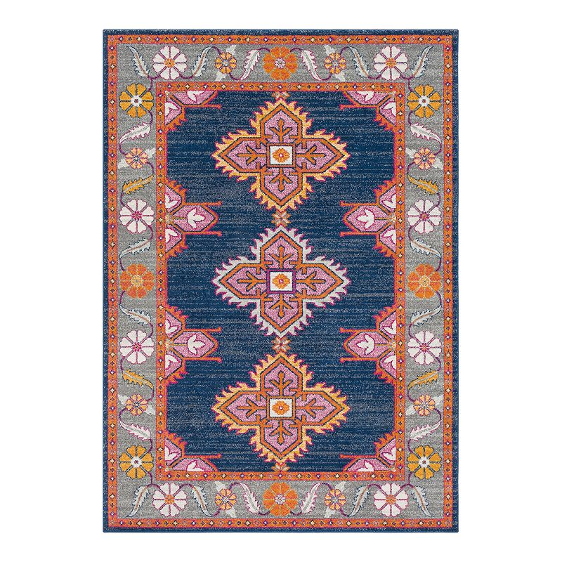 Decor 140 Manila Geometric Area Rug, Blue, 6.5X9 Ft