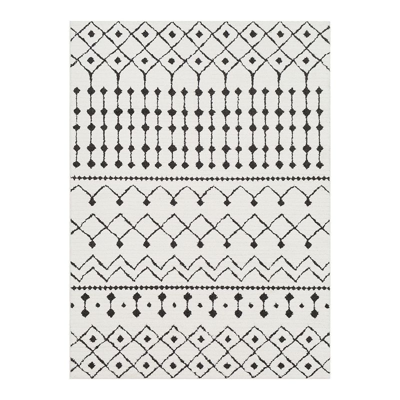 Decor 140 Manila Geometric Rug, White, 4X6 Ft