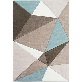 Surya Manila Geometric Triangles Area Rug