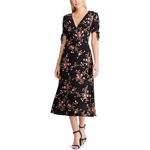 Women's Chaps Short Sleeve Midi Dress