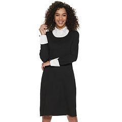 d4d577e87 Women's Nina Leonard Mock-Layer Sweater Dress