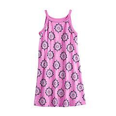 cc3f5e053 Girls 7-16 Mudd® High Neck Swing Dress. Blue Aztec Teal Stripe Burgundy Print  Purple ...