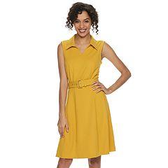 Women's Nina Leonard A-Line Shirt Dress