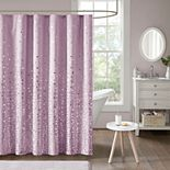 Intelligent Design Liv Metallic Printed Shower Curtain