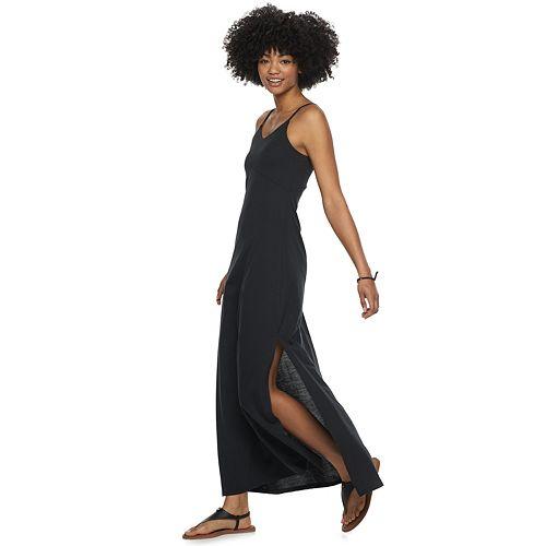 Juniors' SO® Side-Slit Maxi Dress