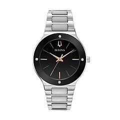 Bulova Men's Diamond Accent Stainless Steel Watch - 96E117K