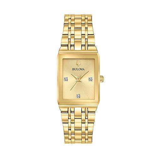Bulova Women's Diamond Accent Stainless Steel Watch - 97P140