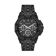 Bulova Men's Black Crystal Multi-Dial Watch - 98C134