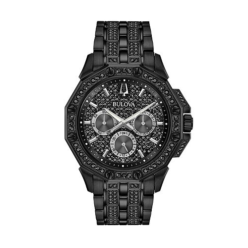 Bulova Men's Black Crystal Multi-Dial Watch - 98C134