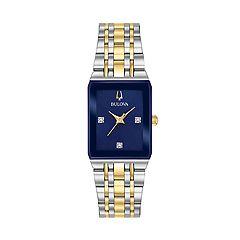 Bulova Women's Diamond Accent Two Tone Watch - 98P177