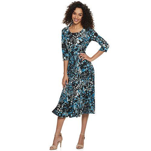 Women's Nina Leonard Print Midi Dress