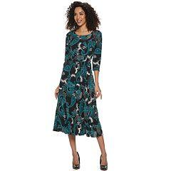 b1ebde61ec5 Women s Nina Leonard Print Midi Dress
