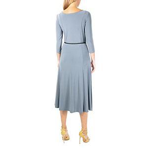 Women's Nina Leonard Solid Midi Dress
