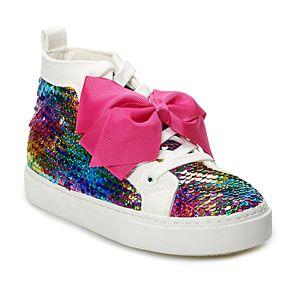 JoJo Siwa Rainbow Sequin Girls' High Top Sneakers