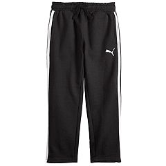 Boys 4-7 PUMA Logo Striped Fleece Pants