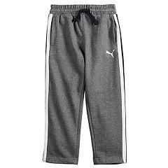 5eb07a9af978 Boys 4-7 PUMA Logo Striped Fleece Pants