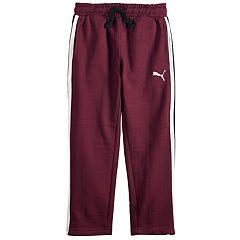 Boys 4-7 PUMA Logo Striped Fleece Pants