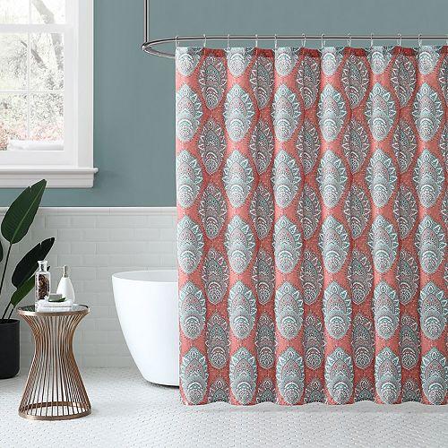 Peach & Oak Zaria Shower Curtain