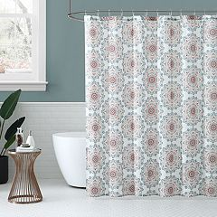 Peach & Oak Medallion Shower Curtain