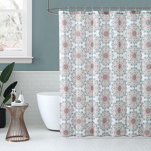 Peach & Oak Medallion Shower Curtain