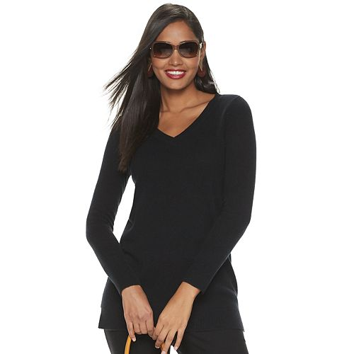 Women's Apt. 9® Cashmere V-neck Sweater