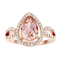 08354ace4 Brilliance Rose Gold Tone Ring with Swarovski Crystals