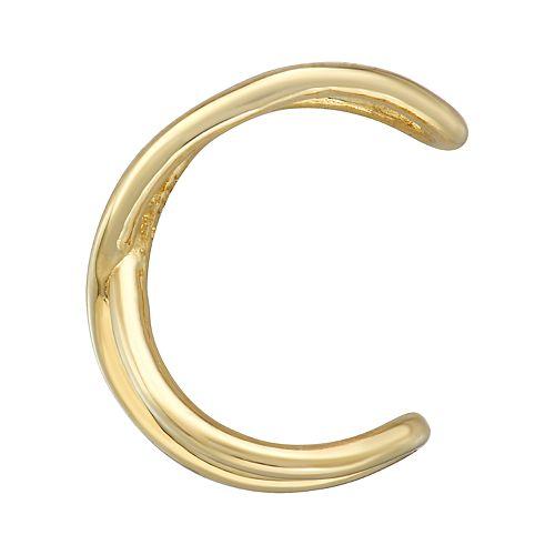 14k Gold Crisscross Ear Cuff