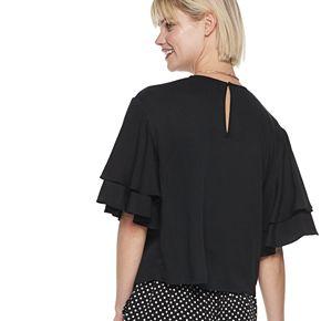 Women's POPSUGAR Layered Flounce Sleeve Top