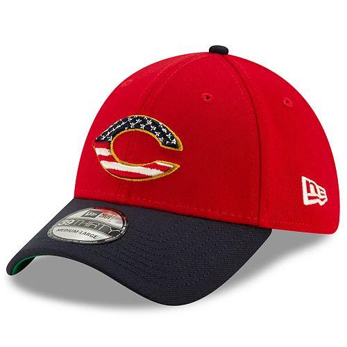 New Era Stretch Fit 39THIRTY Cincinnati Reds 4th of July Cap
