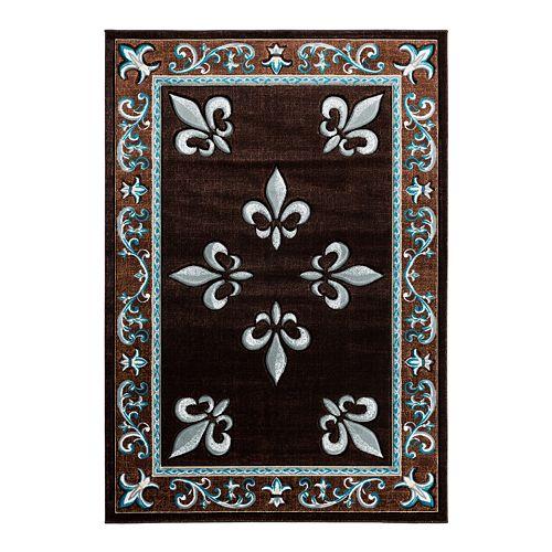 United Weavers Bristol Collection Casselton Fleur De Lis Accented Rug