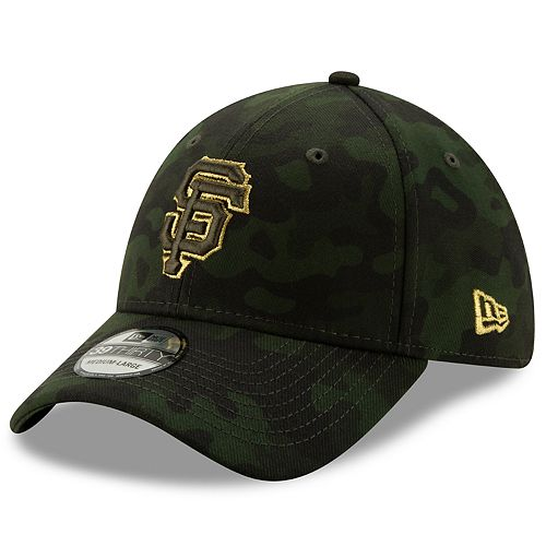 Men's San Francisco Giants New Era 2019 MLB Armed Forces Day 39thirty Flex Cap - Camo