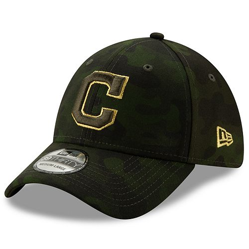 Men's Cleveland Indians New Era 2019 MLB Armed Forces Day 39thirty Flex Cap - Camo