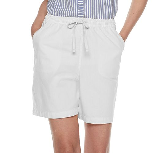 Women's Gloria Vanderbilt Lucy Sheeting Pull-On Shorts