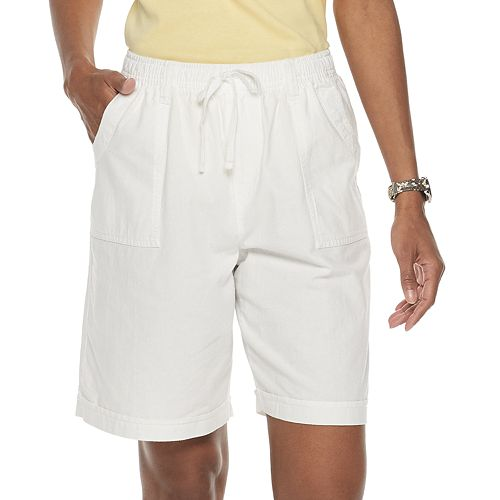 Women's Gloria Vanderbilt Riley Sheeting Pull-On Shorts