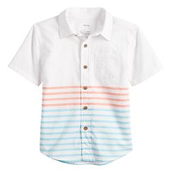 Boys 4-12 SONOMA Goods for Life™ Striped Pocket Button Down Shirt