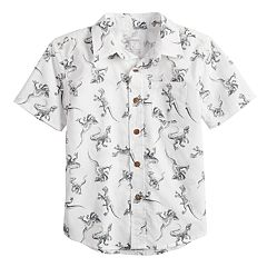 Boys 4-12 SONOMA Goods for Life™ Dinosaur Pocket Button Down Shirt
