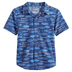 Boys 4-12 SONOMA Goods for Life™ Paddle Boards Pocket Button Down Shirt