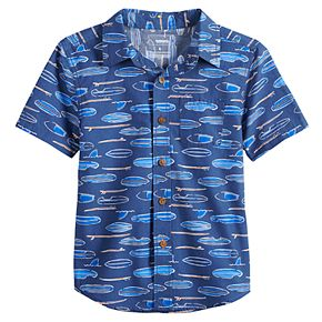 Boys 4-12 SONOMA Goods for Life? Paddle Boards Pocket Button Down Shirt