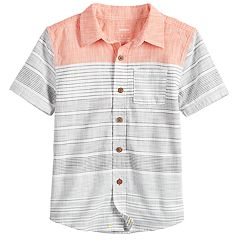 d1c5afc5 Boys 4-12 SONOMA Goods for Life™ Striped Pocket Button Down Shirt